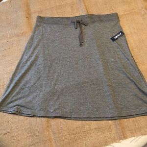 Old Navy NWT Size Large Gray Midi Jersey Skirt